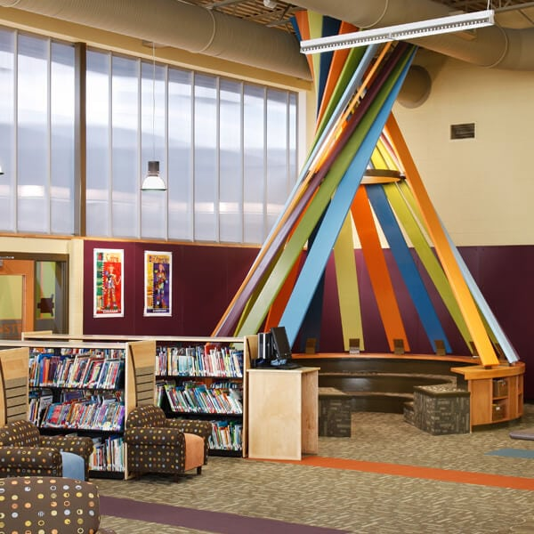Highland Elementary School Colorful Library